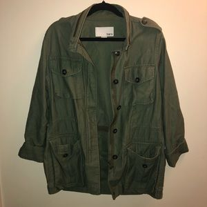 Bar lll Army Green Utility Zip-Up Jacket